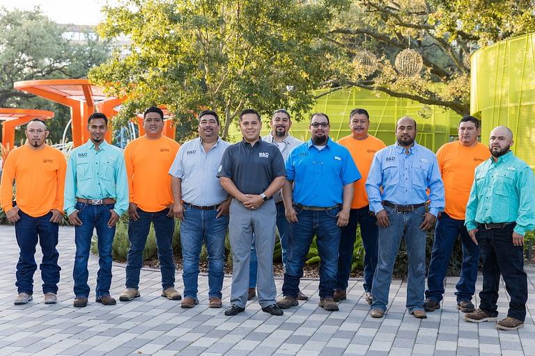 B&D Landscape Contractors Field Team